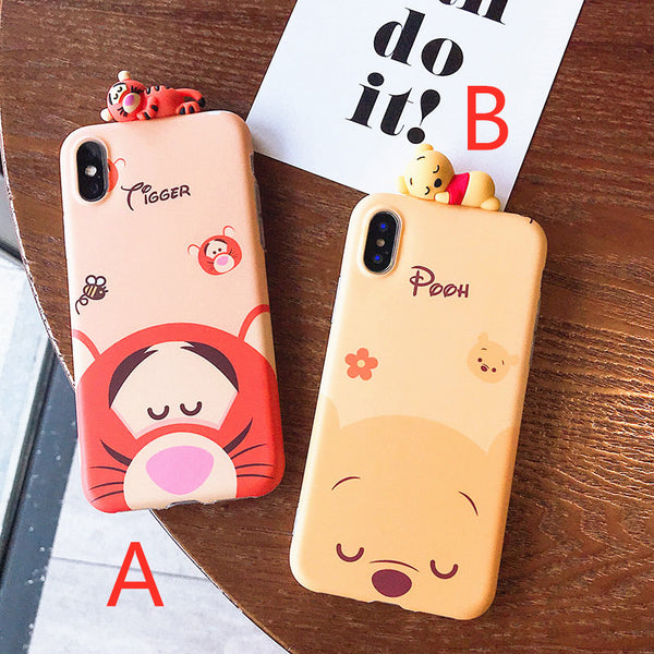Bear and Tiger Phone Case for iphone 6/6s/6plus/7/7plus/8/8P/X/XS/XR/XS Max JK1251