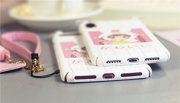 Kawaii Girl Phone Case for iphone 6/6s/6plus/7/7plus/8/8P/X JK1142