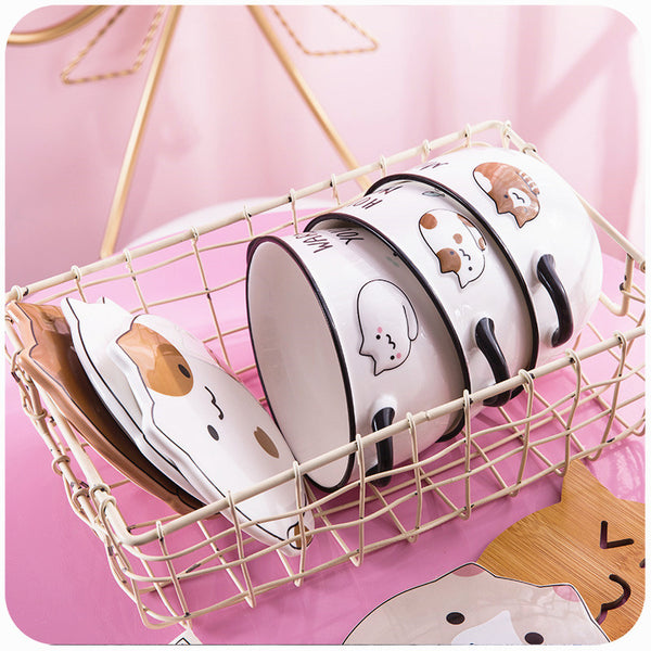 Kawaii Cats Printed Bowl JK1083