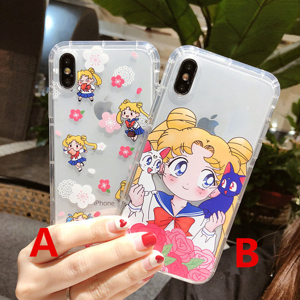 Transparent Usagi Phone Case for iphone 6/6s/6plus/7/7plus/8/8P/X/XS/XR/XS Max JK1215