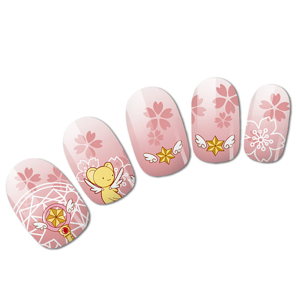 Sailor Moon and Sakura Nail Art JK1031