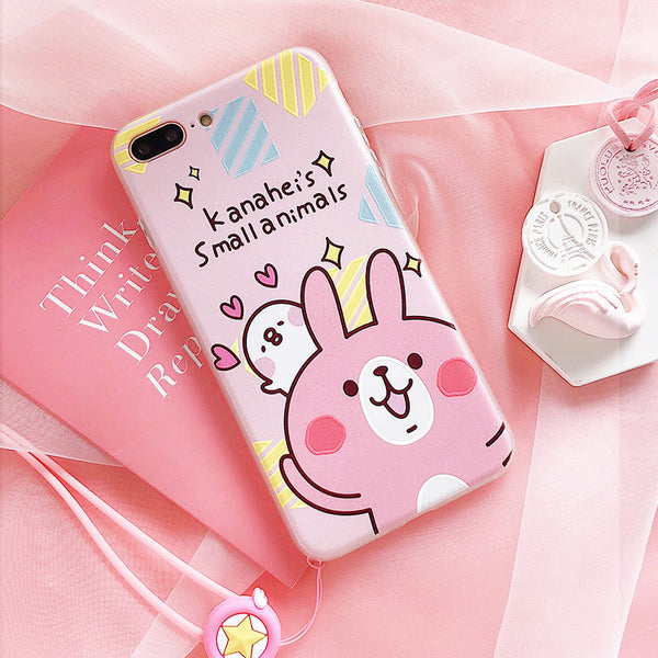 Kawaii Cartoon Phone Case for iphone 6/6s/6plus/7/7plus/8/8P JK1109
