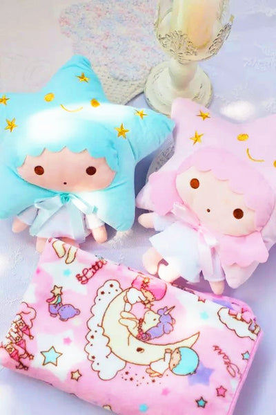 Little Twin Star Pillow And  Blanket JK1057