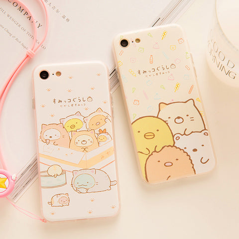 Kawaii Bear Phone Case for iphone 6/6s/6plus/7/7plus/8/8P JK1115