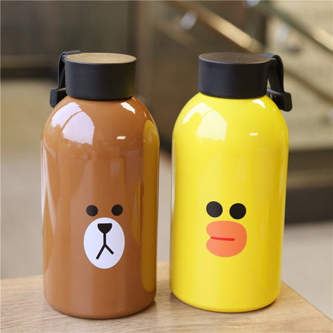 Bear and Rabbit Stainless Steel Vacuum Water Bottle JK2236