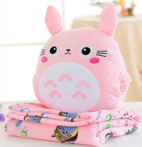 Kawaii Totoro Pillow And  Blanket JK1151
