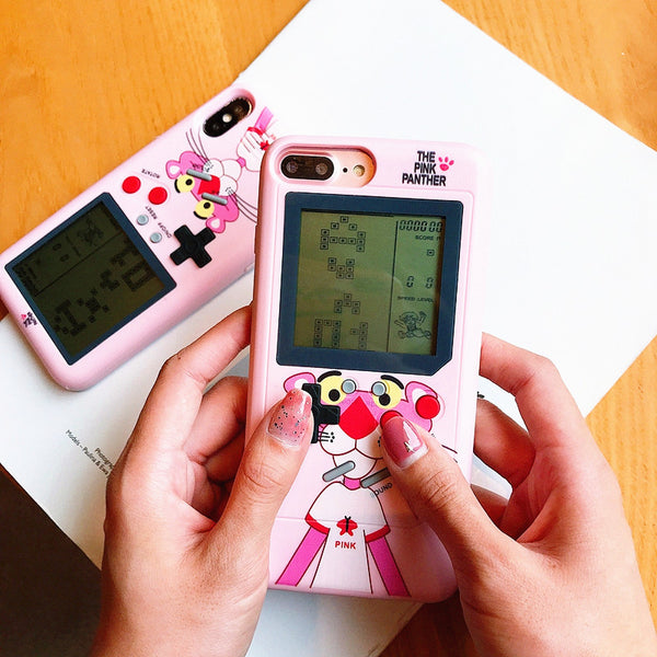 The Pink Panther Game Machine Phone Case for iphone 6/6s/6plus/7/7plus/8/8P/X/XS/XR/XS Max JK1030
