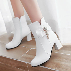 Fashion Bow Martin Boots JK1659