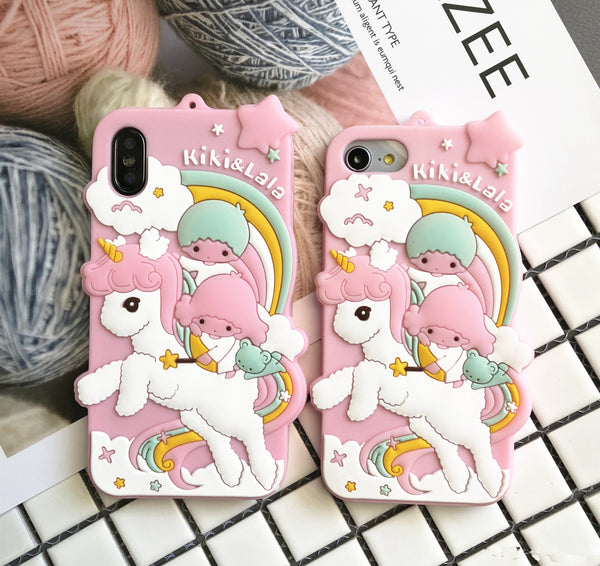 Lovely Unicorn Phone Case for iphone 6/6s/6plus/7/7plus/8/8P/X JK1061