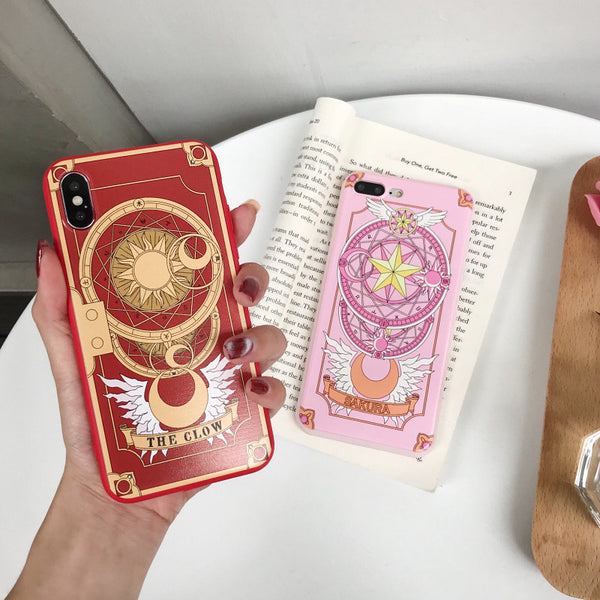 Sakura Card Phone Case for iphone 6/6s/6plus/7/7plus/8/8P/X/XS/XR/XS Max JK1652