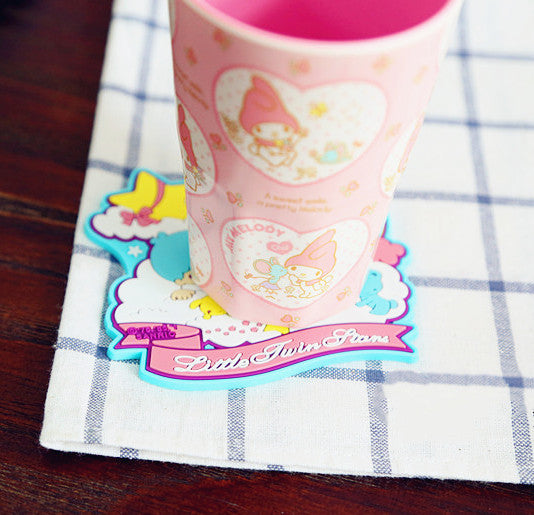Cartoon Cinnamoroll and Hellokitty Cup Mat JK1660