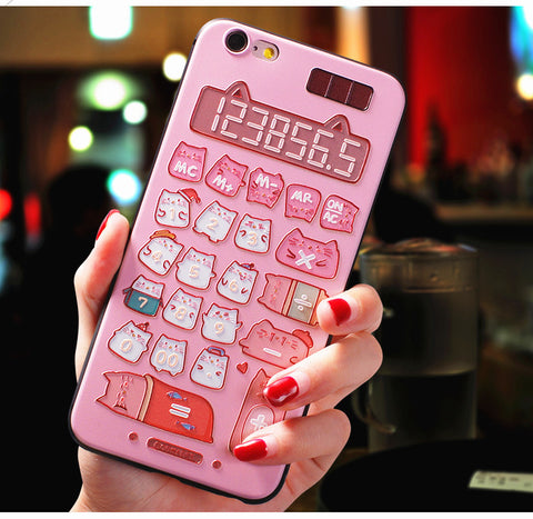 Cute Calculator Phone Case for iphone 6/6s/6plus/7/7plus/8/8P/X/XS/XR/XS Max JK1069