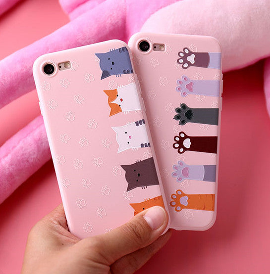 Many Cats and Paws Phone Case for iphone 6/6s/6plus/7/7plus/8/8P/X/XS/XR/XS Max JK1314