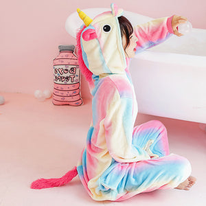 Colorful Unicorn Winter Pajamas JK1884