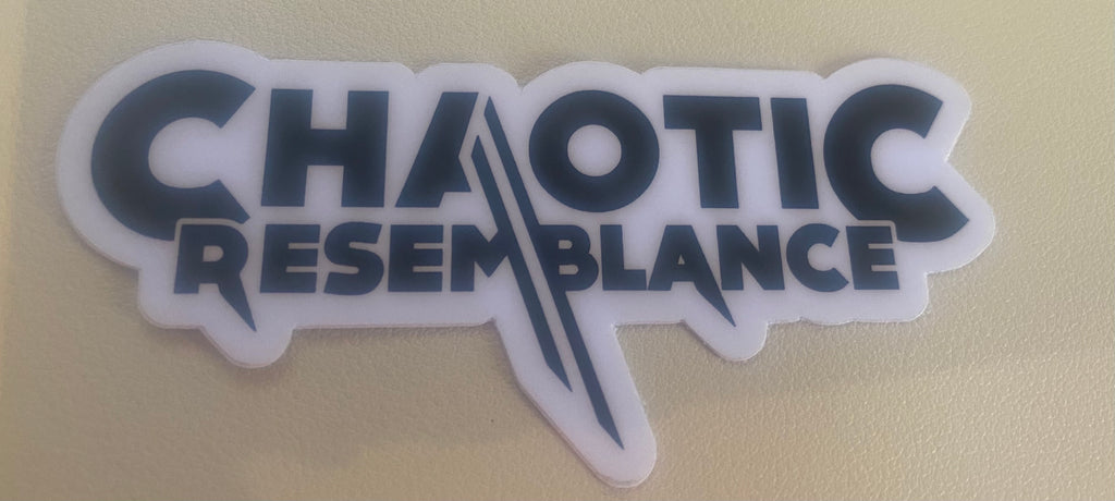 Chaotic sticker 4'' x 2'' all weather