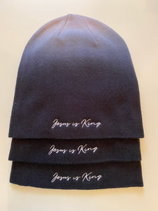 Beanie -  Jesus is King - Hombre Black/ Gray