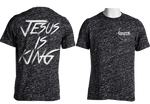 Jesus Is King T-Shirt (Black Speckled)