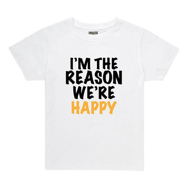 I'm the reason - Kids T-shirt (White) - ChillTee