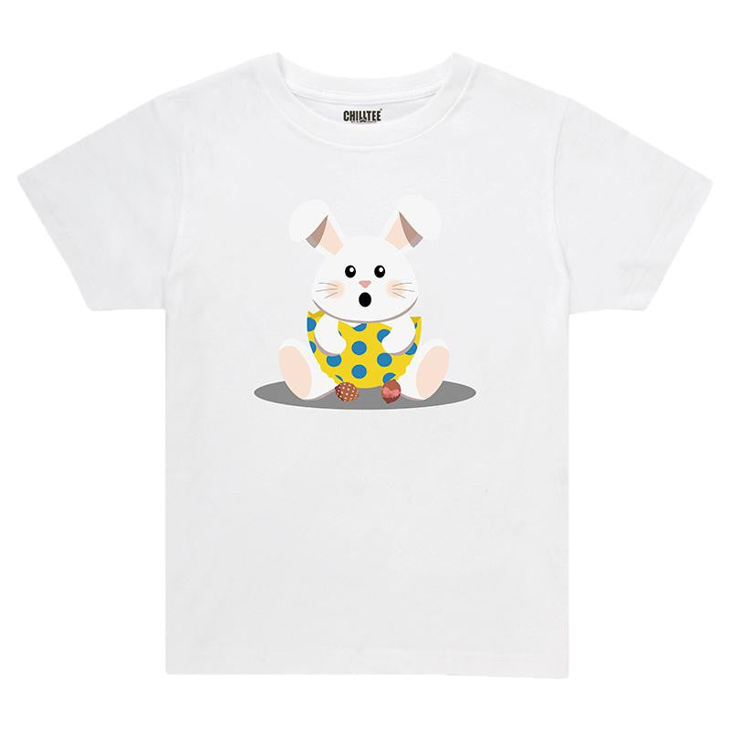 Chill Easter Bunny Kids T-Shirt (White) - ChillTee