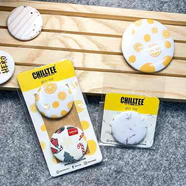 Personalised Button Pins - ChillTee