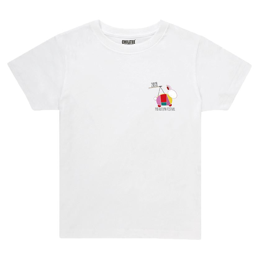 Rabbit Lantern Adult&Kids T-shirt (White) - ChillTee