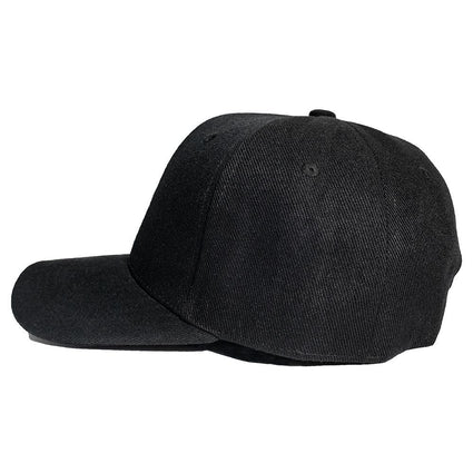 Black Custom Embroidered Cap Left Side