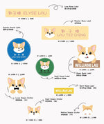 Welsh Corgi Sticker Label Set - ChillTee