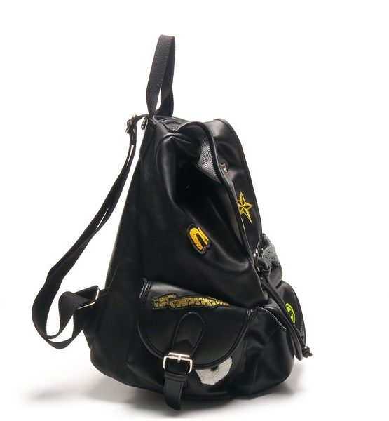 Solemi Chop Suey Vegan Leather Patched Backpack