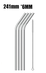 metal straw with cleaner
