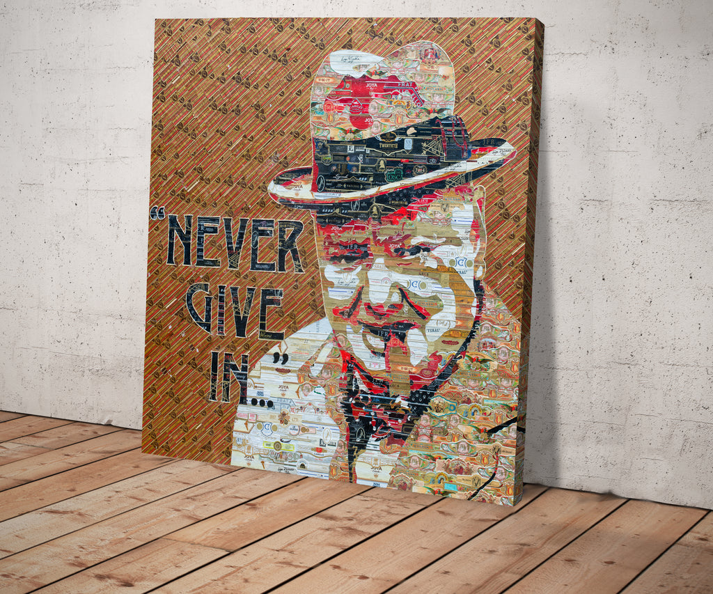"Churchill ""Never Give In"""