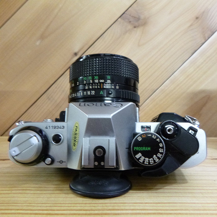 Canon AE-1 Program SLR 35mm Film Camera - W/50mm 1.4