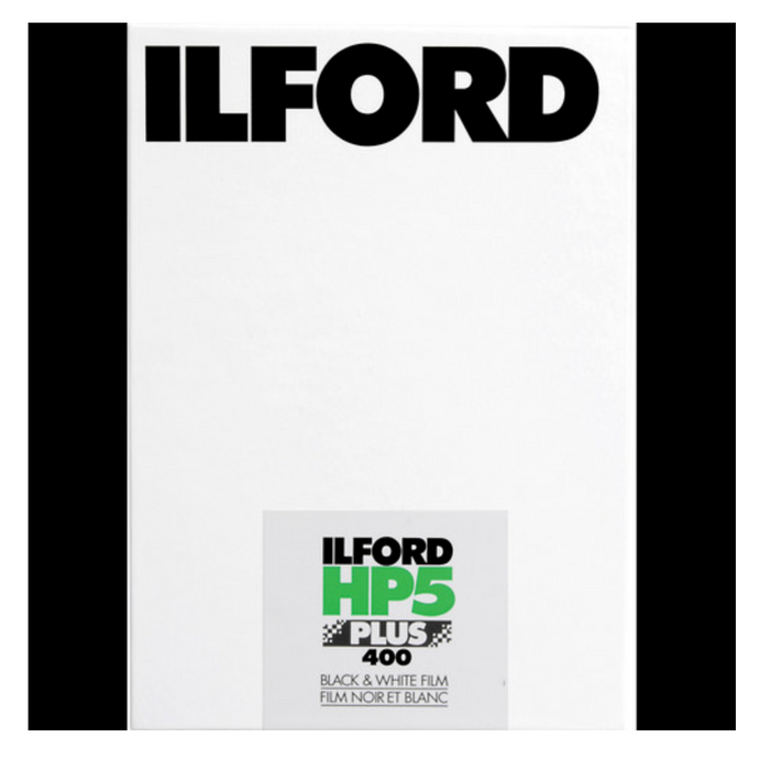 "Ilford HP5 Plus Black and White Negative Film (4 x 5"", 25 Sheets)"