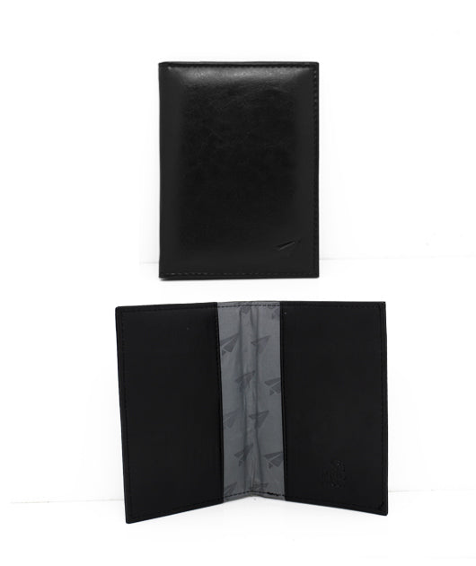 RFID SINGLE PASSPORT WALLET FAUX LEATHER