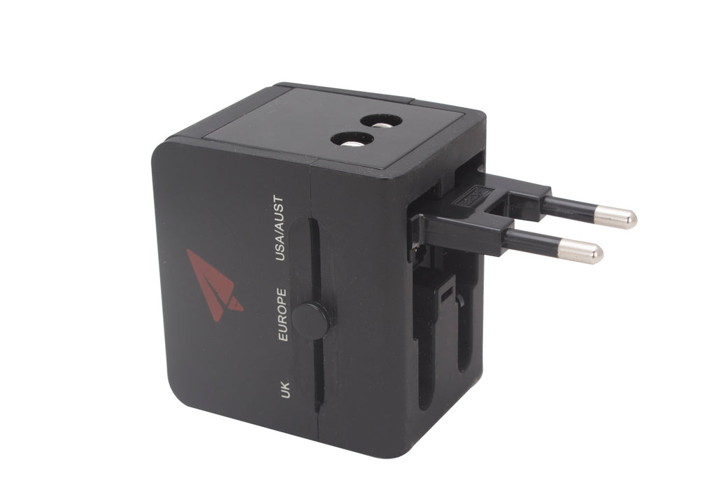 WORLD TRAVEL ADAPTERS TWIN USB
