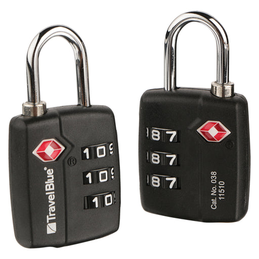 TRAVEL BLUE 2 X TSA COMBI LOCK