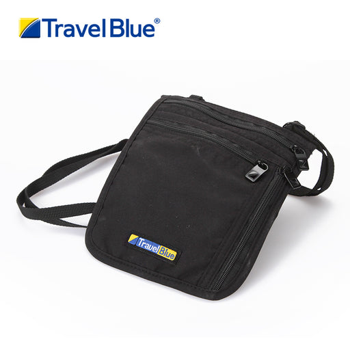 TRAVEL BLUE ULTRA SLIM NECK CARRIER BLACK