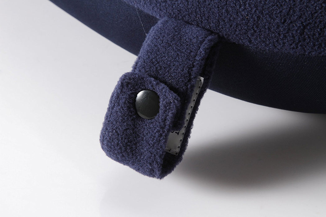 TRAVEL BLUE MICRO PEARLS NECK PILLOWNAVY