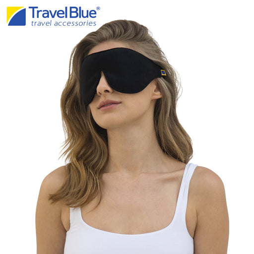 TRAVEL BLUE EXTRA SOFT EYE MASK BLACK