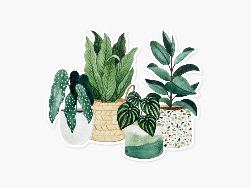 Potted Plants Clear Sticker