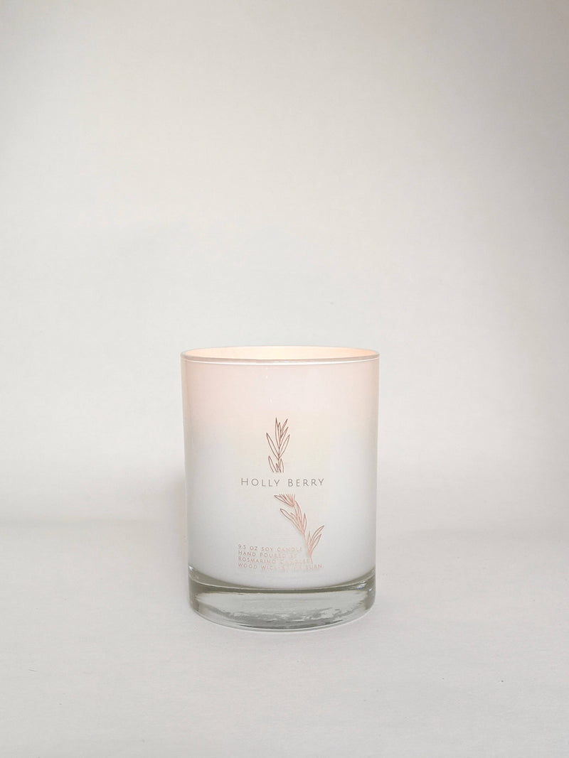 Holly Berry 9.5 oz Wood Wick Candle (Holiday)