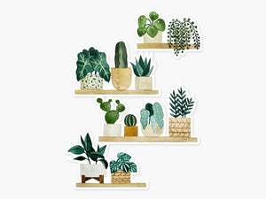 Plant Shelf Clear Sticker