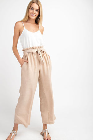 Sand Paperbag Trousers