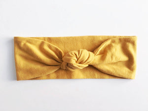 Mustard Yellow Top Knot Headband