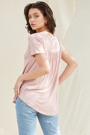 Pleated Bamboo Tee