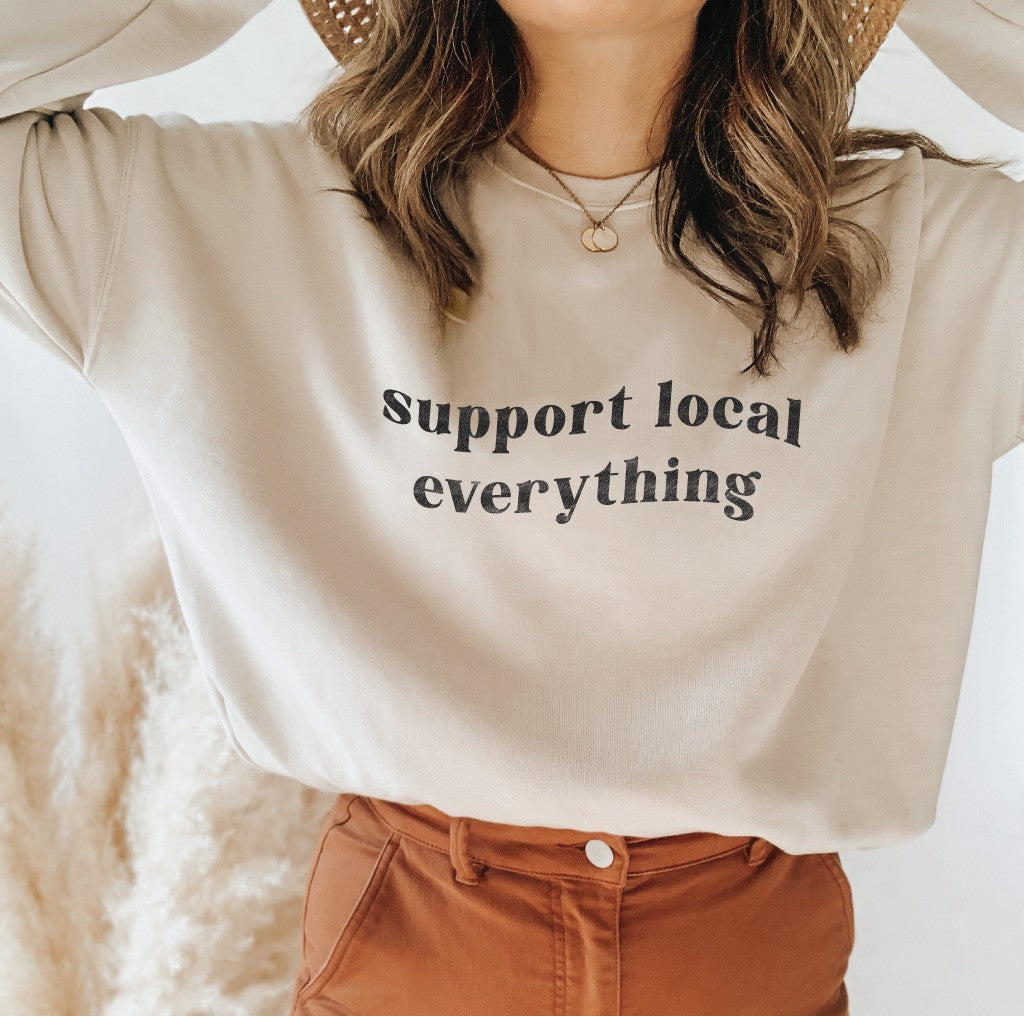 Moon Support Local Everything Sweater