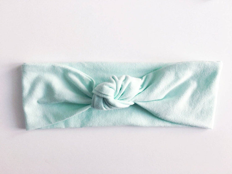 Mint Top Knot Headband