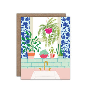 Just Because Window Plant Card
