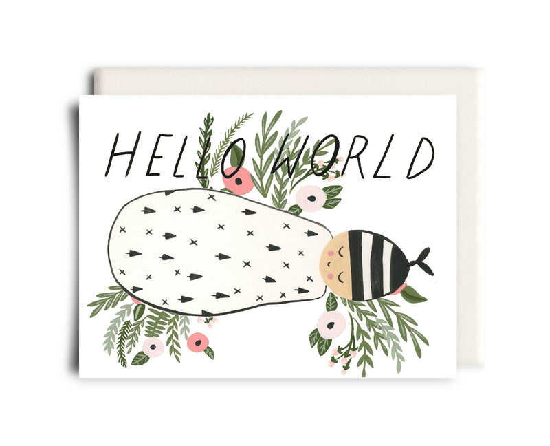 Hello World | New Baby Greeting Card