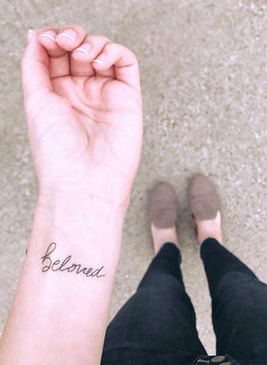 Power Words Temp Tattoo