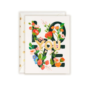 Love You Floral Card